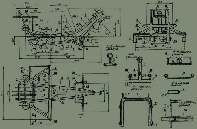 Трицикл из днепра чертежи